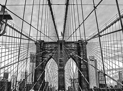 Brooklyn Bridge Lines Art Print by Artistic Photos