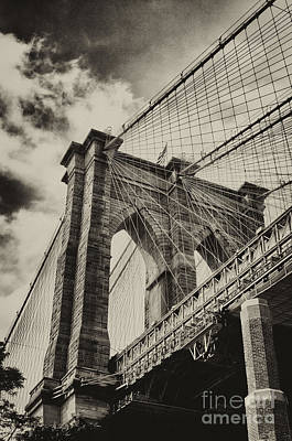 Print featuring the photograph Brooklyn Bridge by Vicki DeVico