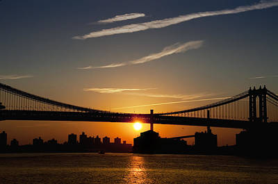 Brooklyn Bridge Digital Art - Brooklyn Sunrise by Bill Cannon