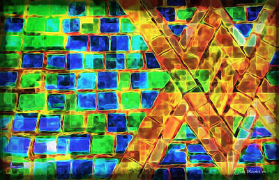 Photograph - Brooklyn Tile Abstract by Joan  Minchak
