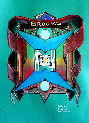 Brooks Family Crest Art Print by Ahonu
