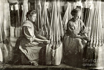 Evansville Photograph - Broom Manufacture, 1908 by Granger