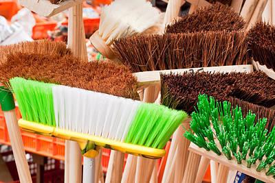 Broom Wall Art - Photograph - Brooms by Tom Gowanlock