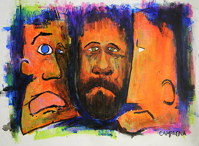 Painting - Brothers by Teddy Campagna