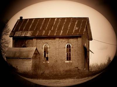 Country Schools Photograph - Brown Brick School House by Michael L Kimble