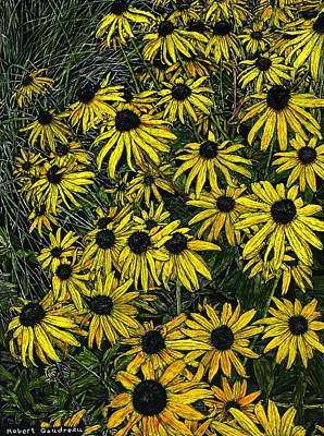 Painting - Brown Eyed Susans by Robert Goudreau