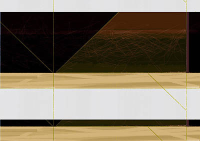 Geometric Form Painting - Brown Field by Naxart Studio