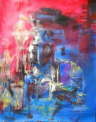 Brown Red And Blue Original by Ulrich De Balbian