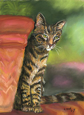 Painting - Brown Tabby by Mary Jo Zorad