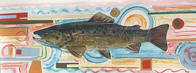 Brown Trout 1 Art Print by Michelle Grove