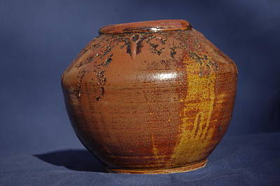 Ceramic Art - Brown Vase by Rick Ahlvers
