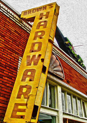 Browns Harware Art Print by Gregory Dyer