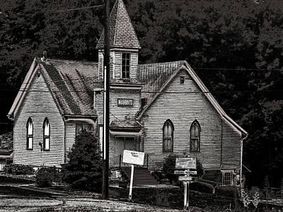 Photograph - Brownville Nebraska Village Theatre by Tim McCullough