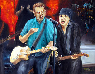 Wrecking Ball Painting - Bruce And Steven At The Apollo by Leonardo Ruggieri
