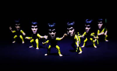 Bruce Lee - Stances  Art Print by Ian Hufton