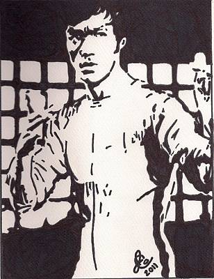 Bruce Lee Art Print by Jeremiah Colley