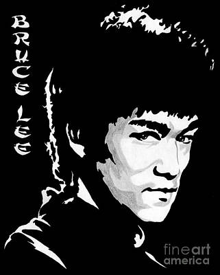 Bruce Lee Art Print by Zeeshan Nayani