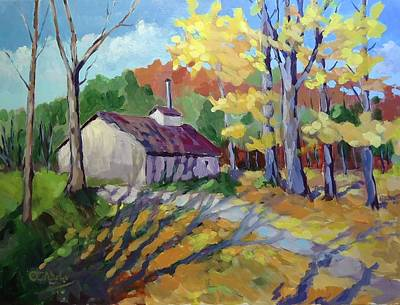 Wall Art - Painting - Bruces Mills Ontario by Edward Abela
