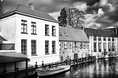 Photograph - Bruges Canal Scene Vi by John Rizzuto