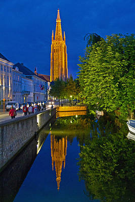 Photograph - Brugge At Night by David Freuthal