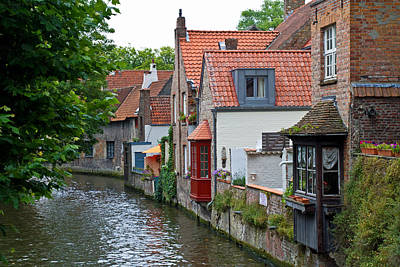 Photograph - Brugge Canal by David Freuthal