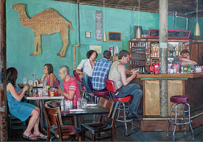 Elinore Schnurr Painting - Brunch At Enid's by Elinore Schnurr