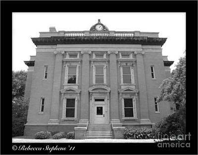 Brunswick Historical Court House Art Print by Rebecca Stephens