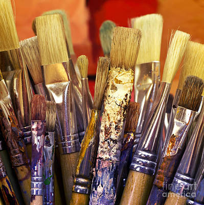 Painter Photograph - Brush Parade by Lutz Baar