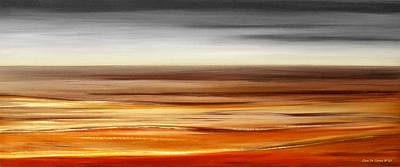 Painting - Brushed 77 - Panoramic Sunset by Gina De Gorna