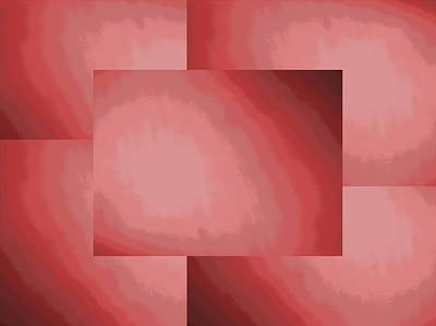 Digital Art - Brushed In Red 1 by Tim Allen