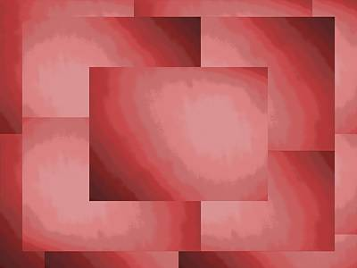Digital Art - Brushed In Red 2 by Tim Allen