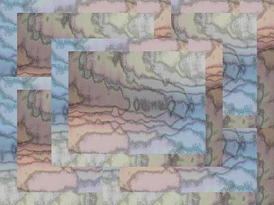 Digital Art - Brushed Pastel 2 by Tim Allen