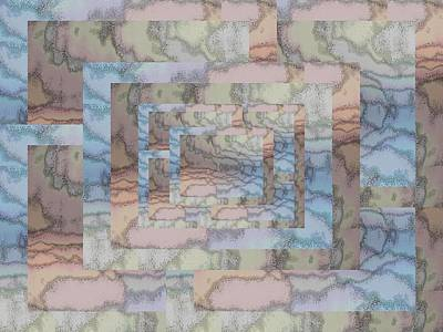 Digital Art - Brushed Pastel 3 by Tim Allen