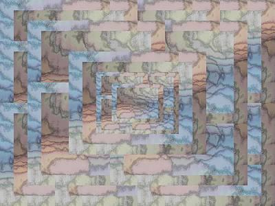Digital Art - Brushed Pastel 4 by Tim Allen