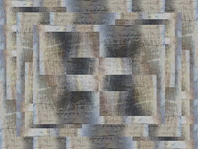 Digital Art - Brushed Strokes 3 by Tim Allen