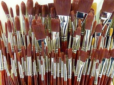 Photograph - Brushes by Ed Lukas