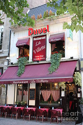 Photograph - Brussels - Restaurant La Villette With Trees by Carol Groenen