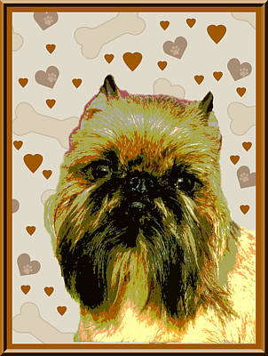 Brussels Griffen Art Print by One Rude Dawg Orcutt