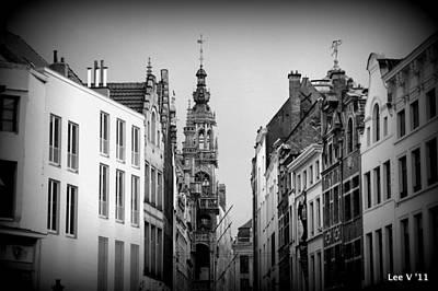 Brussels In Black And White Art Print by Lee Versluis