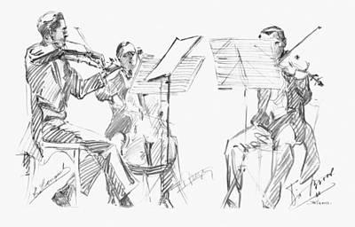 Brussels String Trio Art Print by Granger