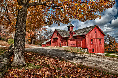 Photograph - Bryant Red Barn by Fred LeBlanc