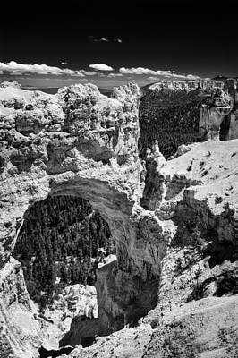 Photograph - Bryce Canyon Arch - Black And White by Larry Carr