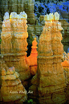 Bryce Canyon Hoodoos With Logo Art Print