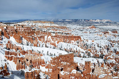 Art Print featuring the photograph Bryce Winter by Bob and Nancy Kendrick