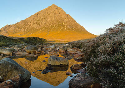 Buachaille Etive Mor At Sunrise Art Print by Ben Spencer