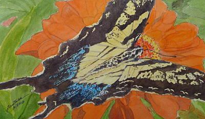Painting - Bubbas Butterfly by Joel Deutsch