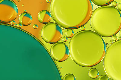 Photograph - Bubble Abstract With A Twist Of Lime by Sharon Johnstone