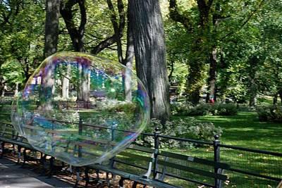 Bubble In The Park Art Print