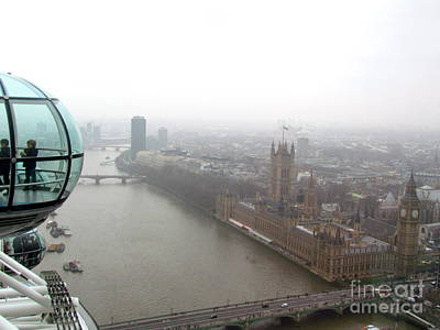 Art Print featuring the photograph Bubble Over London by Beth Saffer