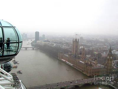 Bubble Over London Art Print by Beth Saffer